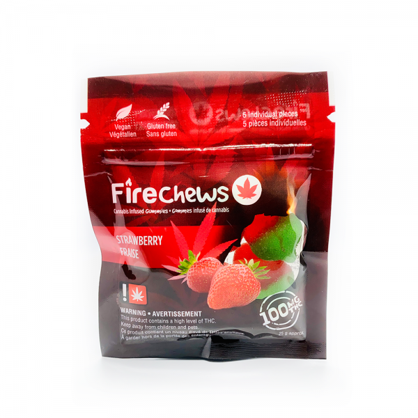 Fire Chews - Strawberry (100 MG THC) edibles Serene Farms Online Dispensary