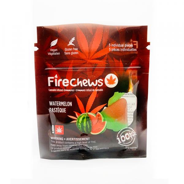 Fire Chews - Watermelon (100 MG THC) edibles Serene Farms Online Dispensary