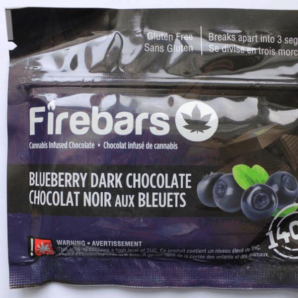 Fire Bars- Blueberry Dark Chocolate (140 MG THC) edibles Serene Farms Online Dispensary