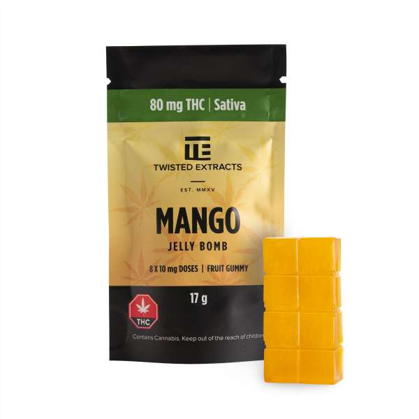 Mango Jelly Bomb (80mg THC) Serene Farms Online Dispensary