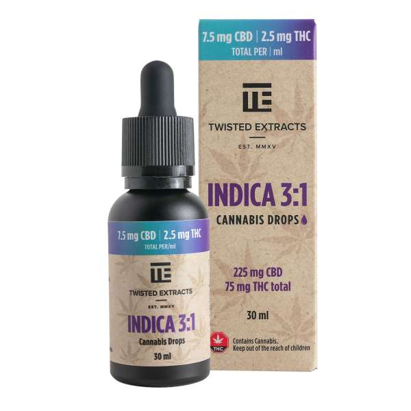 Indica 3:1 Cannabis Oil Drops Serene Farms Online Dispensary