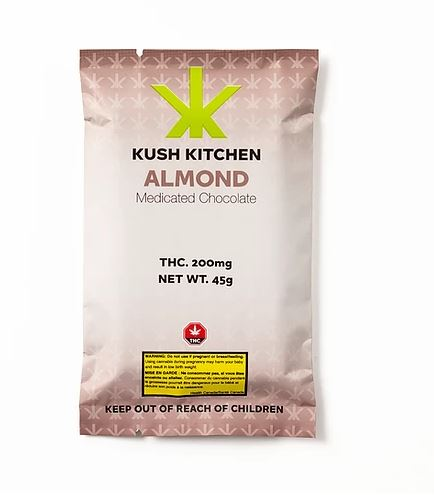 Kush Kitchen Milk Chocolate & Almond Bar 200mg