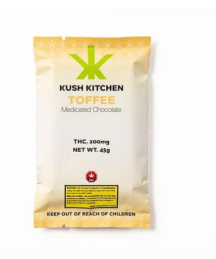 Kush Kitchen Milk Chocolate & Toffee 200mg
